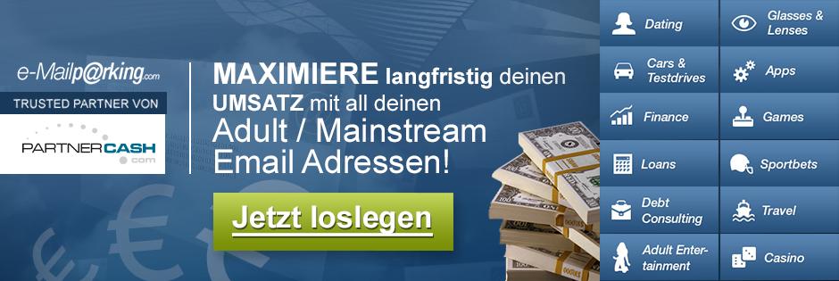 Monetarisiere deine Mainstream/Non-Adult Email-Adressen mit E-mailparking.com